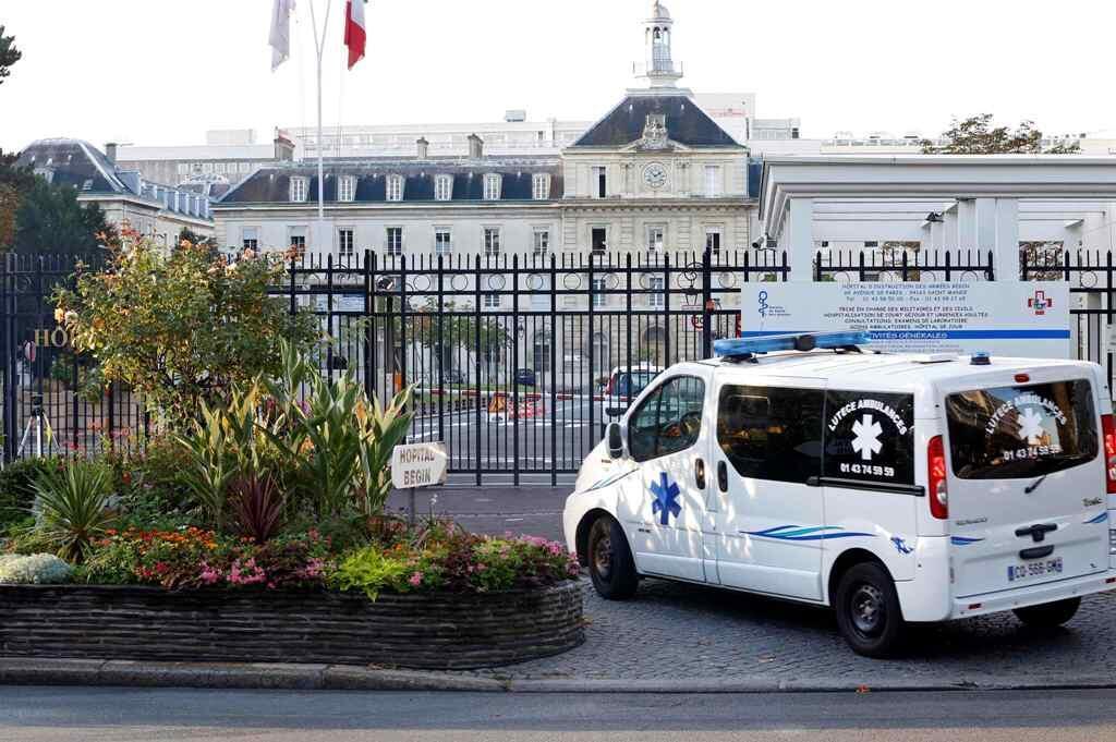 Fachada do hospital militar Bégin, em Saint-Mandé, na região leste de Paris.
