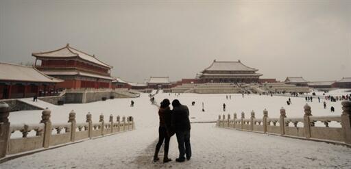 Pékin sous la neige, le 11 février 2011.