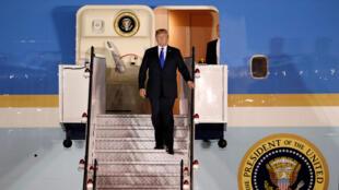 Donald Trump arrivant à Singapour le 10 juin 2018.