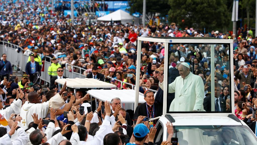 Le pape François au Parque Simon Bolivar de Bogota, le 7 septembre 2017.