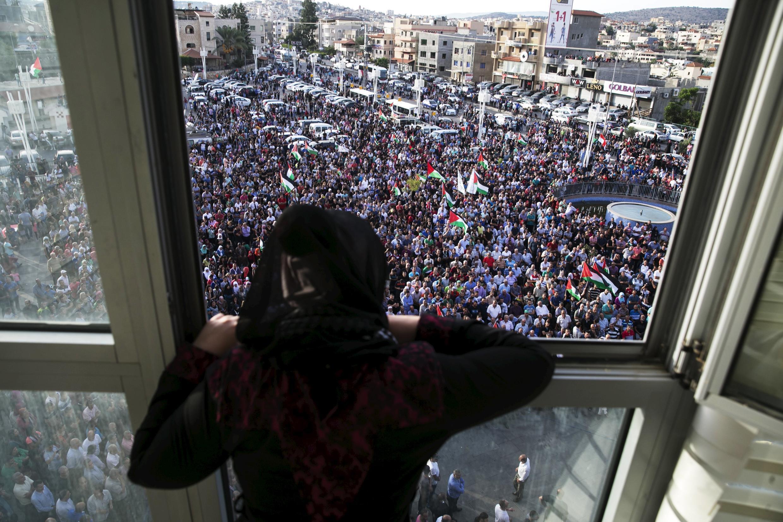 Manifestación propalestina en Sakhnin, norte de Israel, 13 de octubre de 2015.