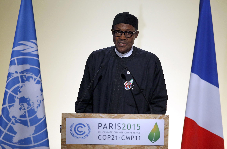 Shugaban Najeriya, Muhammadu Buhari na jawabi a taron sauyin yanayi a Paris
