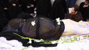 La dépouille de l'Ayatollah Hossein Ali Montazeri.