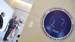 Эмблема французской контрразведки (DGSI) во время презентации плана по борьбе с терроризмом в 2018 году (архивное фото)