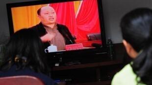 Photo datant de décembre 2011.  Zheng Yanxiong dirige alors le Parti communiste de la province du Guangdong,