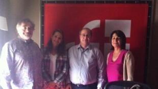 Jean-Philippe Lafont, Sophie Koch, Jean-François Cadet et Claire Gibault dans les studios de RFI.