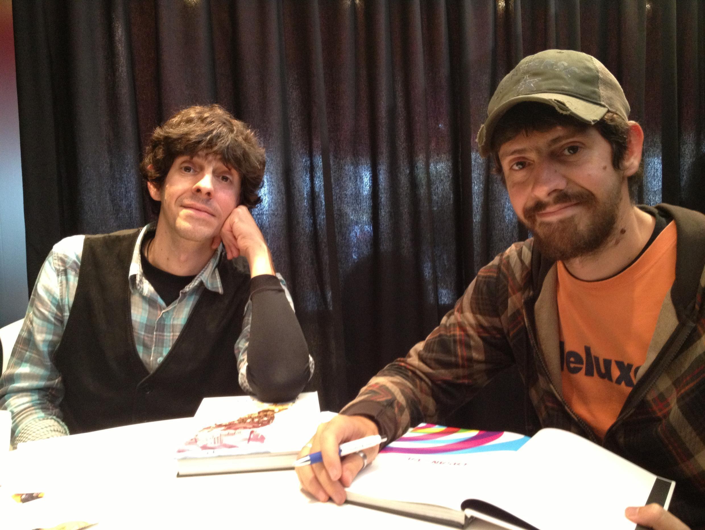 Os irmãos gêmeos Fábio Moon e Gabriel Bá concorrem no festival de HQ de Angoulême.