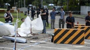 亚洲安全会议香格里拉饭店前今早发生枪击事件
