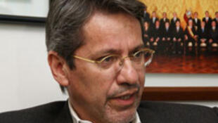 """""""Entre Ecuador y Colombia existe una confianza restablecida"""", sostuvo el nuevo embajador de Ecuador en Colombia, Raúl Vallejo."""