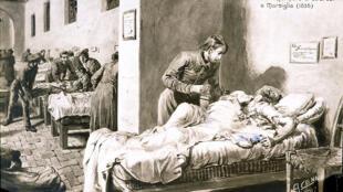 Pendant l'épidémie de choléra au 19e siècle.