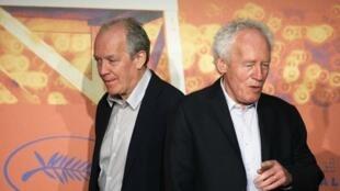 Luc et Jean-Pierre Dardenne, à Cannes, le 21 mai.