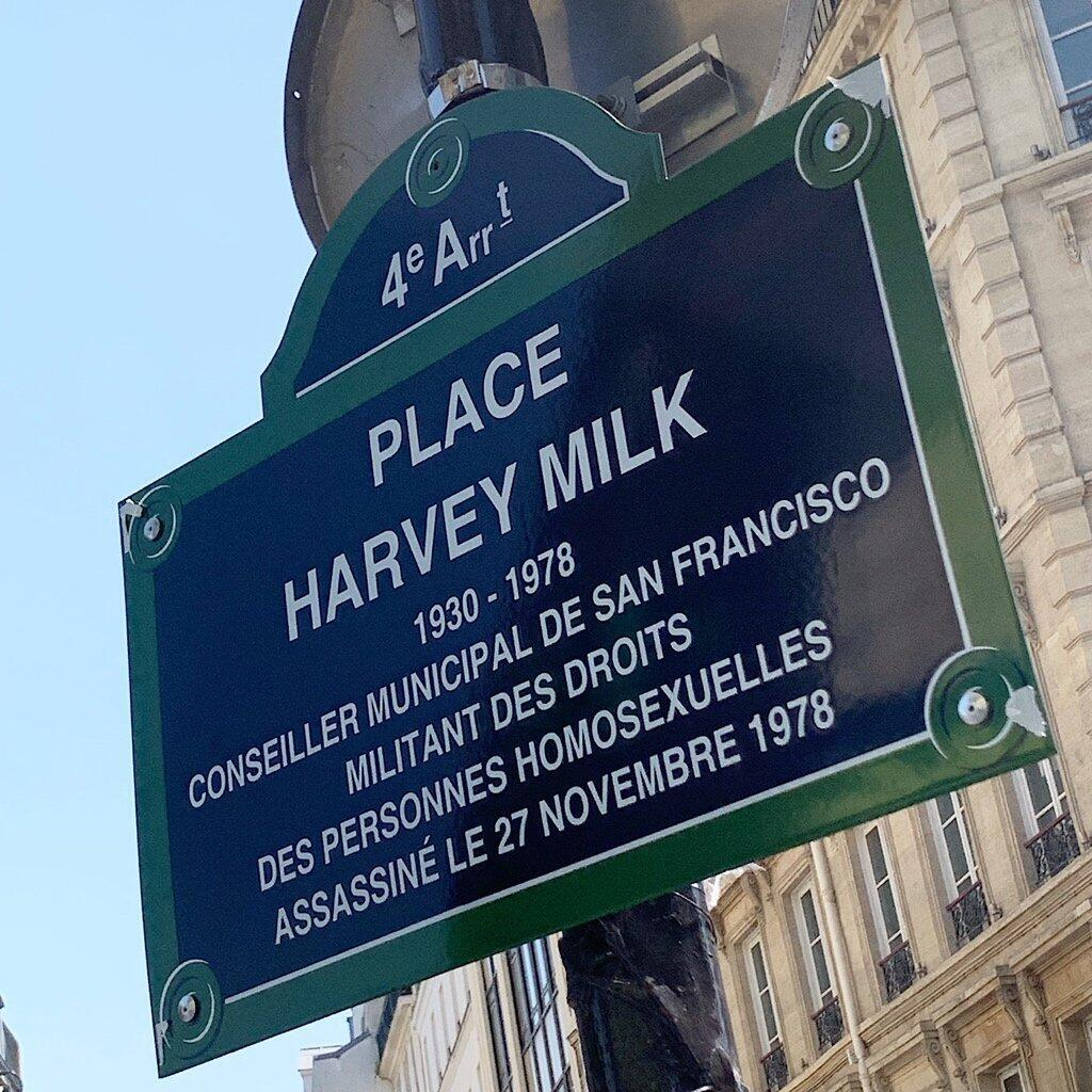 Harvey Milk square, named after the American civil rights leader.