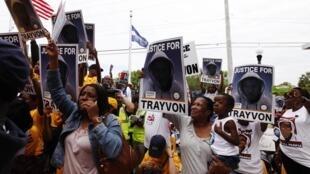 Marche pour Trayvon Martin à Sanford, en Floride, le 31 mars 2012.