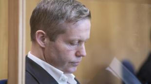 Stephan Ernst, que confesó haber matado al político Walter Lübcke, en el tribunal de Fráncfort el 28 de julio de 2020