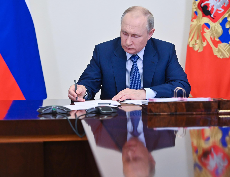 El presidente ruso Vladimir Putin a las afueras de Moscú, el 23 de junio de 2021