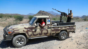 Yemen has been left in ruins by over six years of war: here soldiers loyal to Yemen's Saudi-backed government deploy during clashes with Huthi rebel fighters  in March