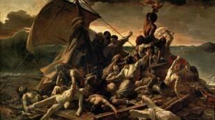 """Tranh """"Chiếc bè Méduse"""" (1819) của họa sĩ Pháp Théodore Géricault."""