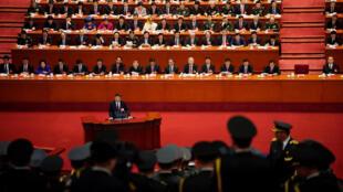 中國國家主席習近平在中共第十九次全代會上致開幕辭 2017年10月18日