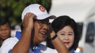 多次執政的柬埔寨總理洪森2013年6與27日。