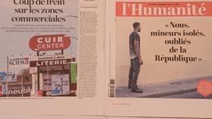 Primeiras páginas  de  diários franceses 28 07 2020