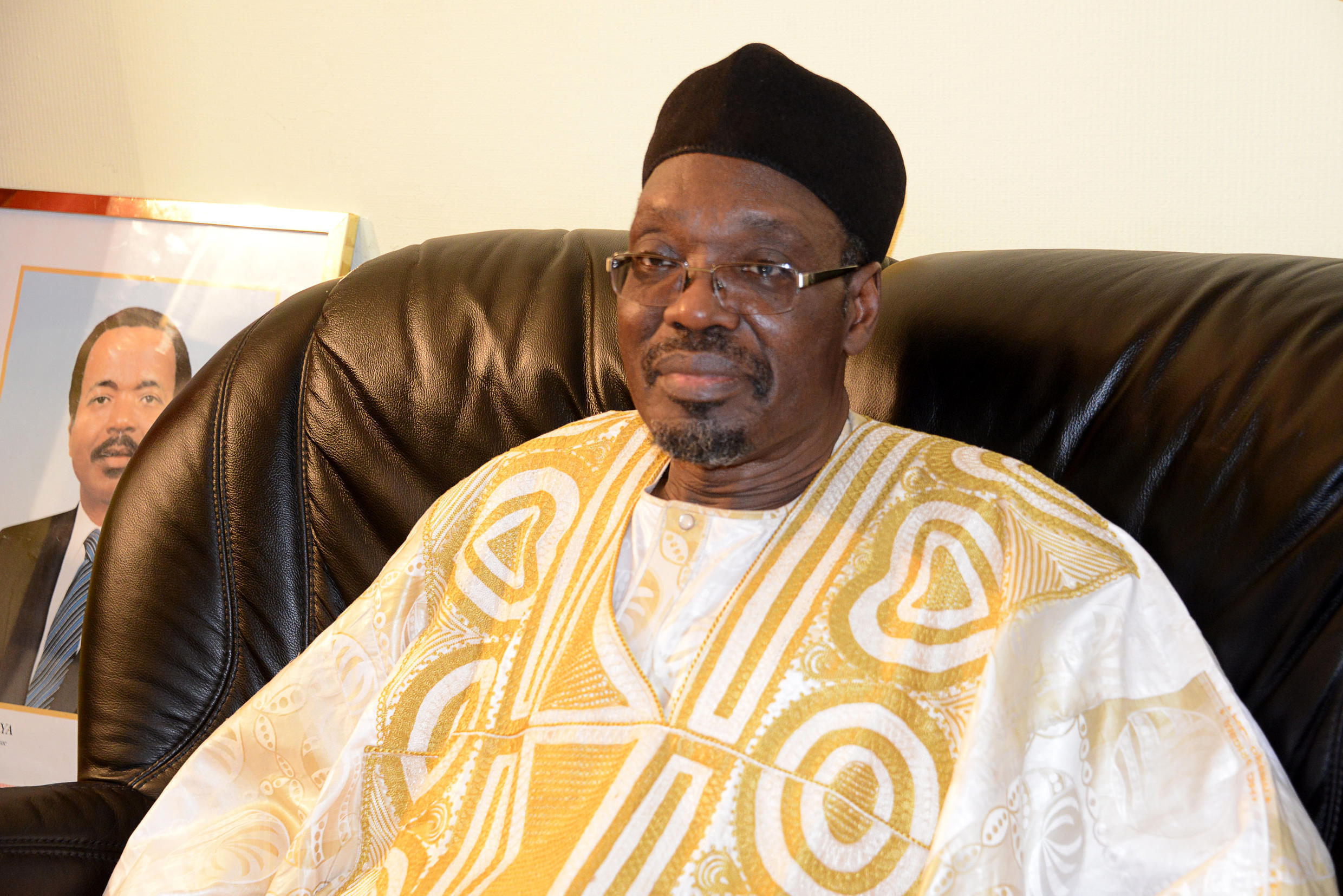 Issa Tchiroma Bakary speaks to journalists in October 2014.