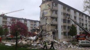 Обвал части здания в Реймсе