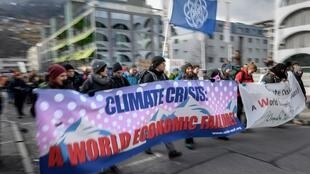 达沃斯世界经济论坛场外示威不断 2020年1月20日照片
