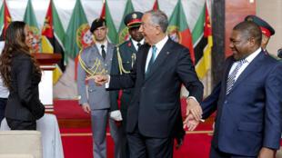 Marcelo Rebelo de Sousa e Filipe Nyusi em Maputo, a 4 de maio [nid:500556763]