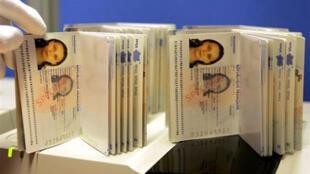 Sample French biometric passports