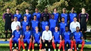 Đội tuyển bóng đá Pháp tại trung tâm huấn luyện Clairefontaine, gần Paris, ngày 30/08/2016.
