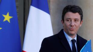 Benjamin Griveaux, ex-secrétaire d'Etat à l'Economie et ex-porte-parole du gouvernement est candidat à la mairie de Paris. Ici, le 24 novembre 2017.