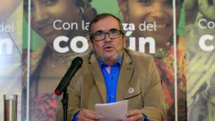 Le candidat de la FARC à l'élection présidentielle colombienne, Rodrigo Londoño, le 28 février 2018 à Bogota.