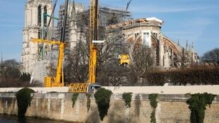 Notre Dame Cathedral is still being secured.
