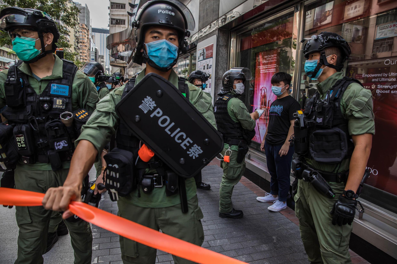 Protestos em Hong Kong.