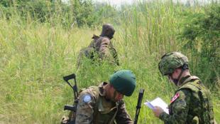 Kafunzi, Province du Nord Kivu, RD Congo: les soldats des Forces armées de la RD Congo, avec l'appui de la Force de la MONUSCO, poursuivent la traque des groupes armés à l'est de la RD Congo (illustration).