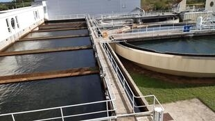 L'usine de potabilisation des eaux du Val, à Orléans, au centre de la France.