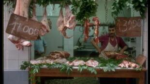 Un boucher à Alger.