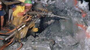 Une mine d'or à Hartebeest Fontein, en Afrique du Sud.
