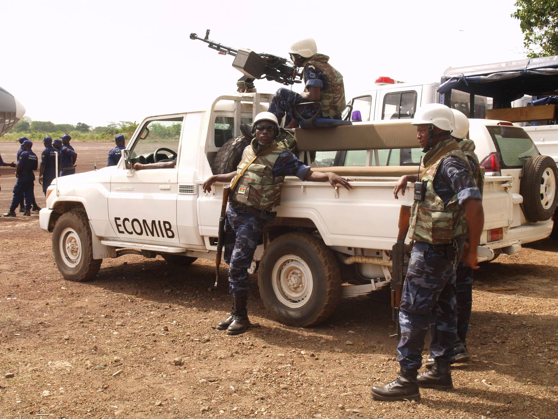 Des soldats de la mission Ecomib de la Cédéao, en Guinée-Bissau en 2012. (Image d'illustration)