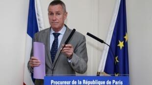 O procurador-geral da República, François Molins, em coletiva de imprensa no tribunal neste domingo, 1° de junho de 2014.