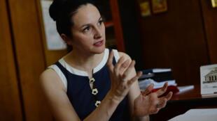 La cheffe du parquet chargé de la criminalité organisée et du terrorisme, Alina Bica, à Bucarest en juillet 2014.
