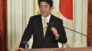 O premiê japonês, Shinzo Abe