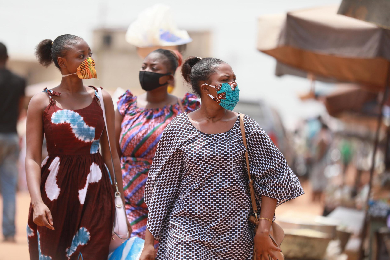 Sur le marché d'Adidogomé Assiyeye, à Lomé le 17 avril 2020 (image d'illustration).