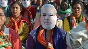 A rally attended by fans of India's Narendra Modi