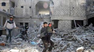 Mapigano yaendelea kurindima Ghouta mashariki, Februari 21, 2018.