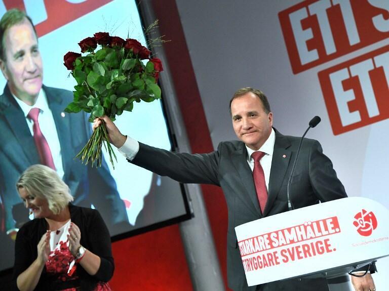 Stefan Löfven, thủ tướng mãn nhiệm tìm kiếm một liên minh cầm quyền sau thắng lợi bầu cử sít sao của đảng Xã hội - Dân chủ ngày 09/09/2018.