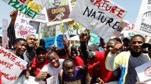 Manifestación en Nairobi, Kenia, este 20 de septiembre de 2019.