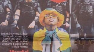 """""""O Samba Triste"""" é a manchete do jornal Libération"""
