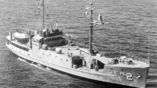 Tầu USS Pueblo của Mỹ trước khi bị Hải Quân Bắc Triều Tiên bắt giữ.
