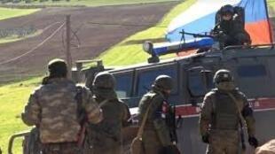 نیروهای پلیس نظامی روسیه در مناطق مرزی سوریه-ترکیه